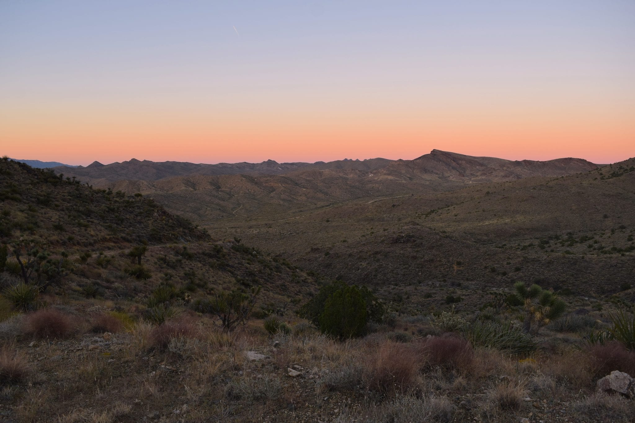 desert California mountain sunrise