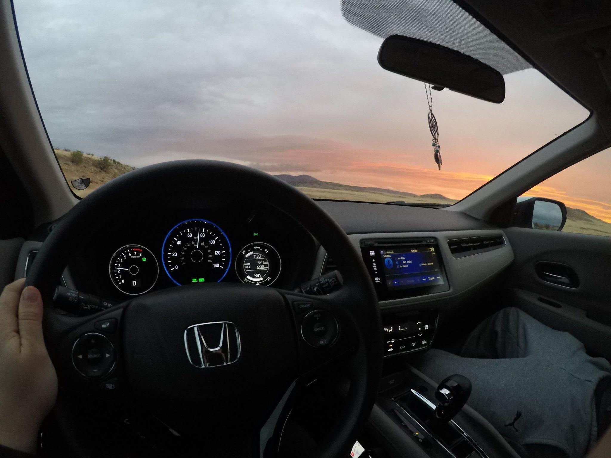 Driving Honda HR-V