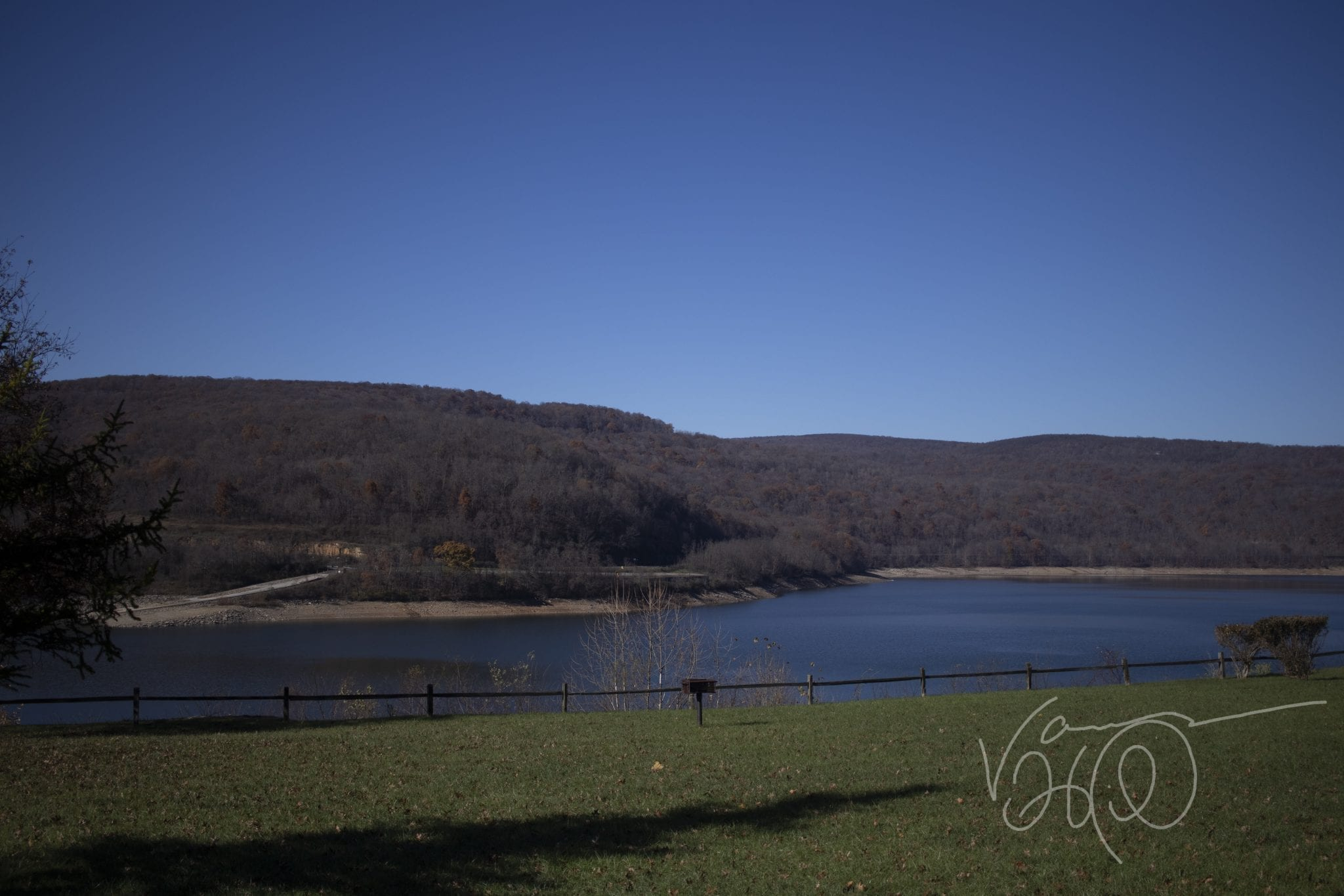 Charcoal Pit at Jennings Randolph Lake North Branch Potomac River in late fall