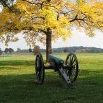 Gettysburg Battlefield Cannon fall leaf change