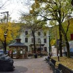 Downtown Jim Thorpe during fall in Pocono Mountains