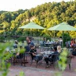 El Jefe Garaje outdoor dining with a view in Lynchburg, Virginia