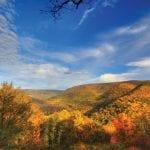 Baughman Rock Overlook during fall, Ohiopyle State Park