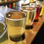 Reid's brewery beer tasting board