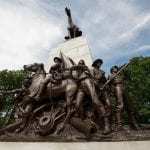 VA Monument statue in Gettysburg